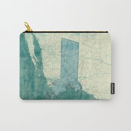 Massachusetts State Map Blue Vintage Carry-All Pouch