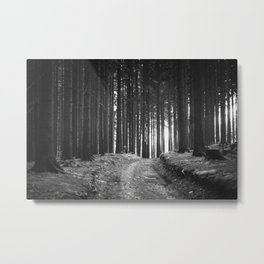 Forest (Black and White) Metal Print