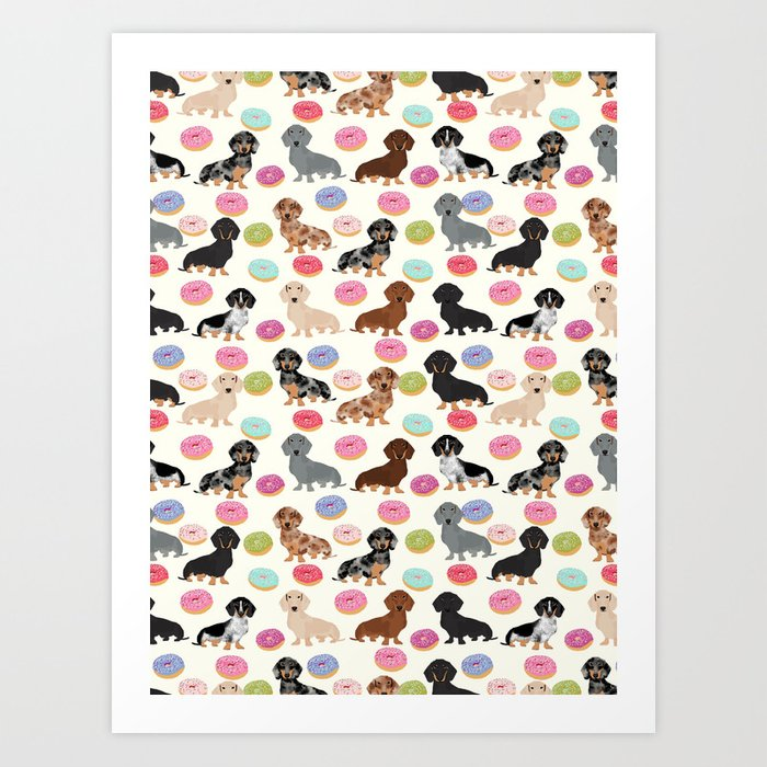 Dachshund weener dog donuts cutest doxie gifts for small dog owners Kunstdrucke