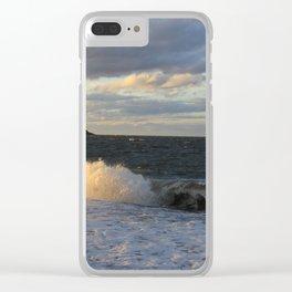 Autumn Crashing Waves Clear iPhone Case
