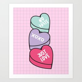 No Hate Just Love Art Print