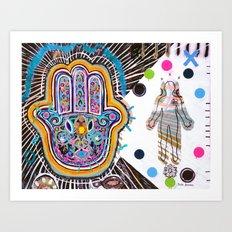 Hamsa Hand II Art Print