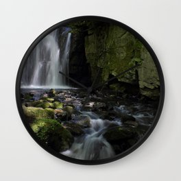 Waterfall at Lumsdale II Wall Clock