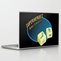 super heroes Laptop & iPad Skins featuring Super-Heroes-Name-Generator by sergio37