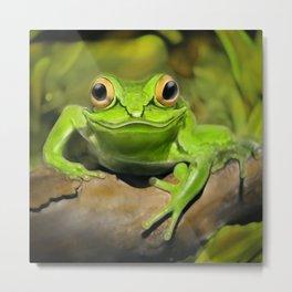 Little green frog Metal Print