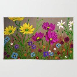 Spring Wild flowers  Rug