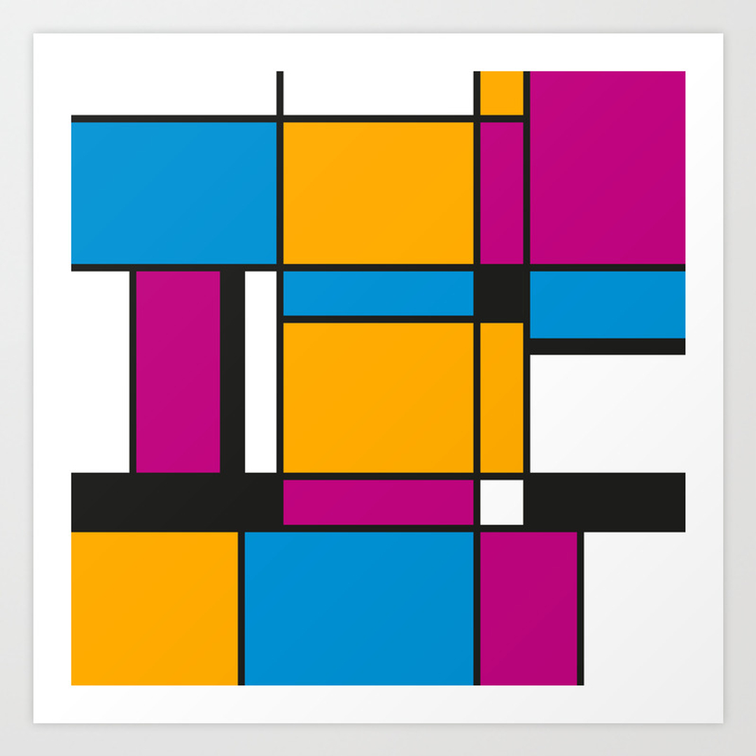 Exelent Mondrian Wall Art Pattern - The Wall Art Decorations ...
