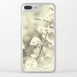 hedge blossoms Clear iPhone Case