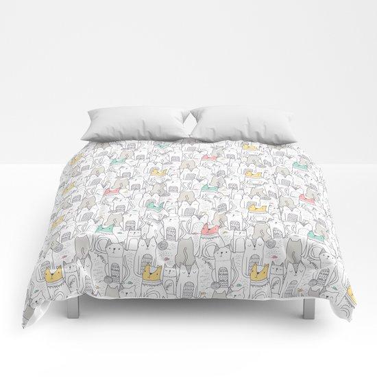 Doodle Cats Comforters