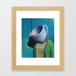 Constant Dribble (tea cup) Framed Art Print