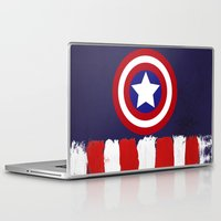 "steve rogers Laptop & iPad Skins featuring Captain ""Steve Rogers"" America by Some_Designs"