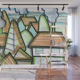 Color Landscape | Piliscsév, Hungary Wall Mural