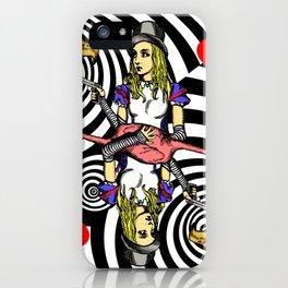 Alice and Flamingo Vortex iPhone Case