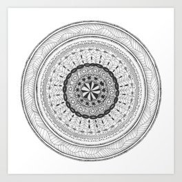 Zendala - Zentangle®-Inspired Art - ZIA 17 Art Print