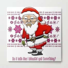 MoCKiNg SaNta Passion Pink Background Metal Print