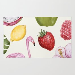 Tropical Flamingo & Fruit Rug