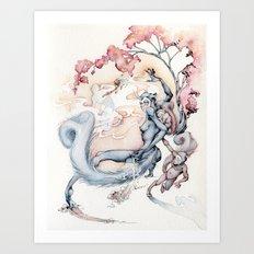 ninja squirrel Art Print