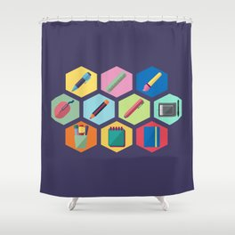 I'm a graphic designer Shower Curtain