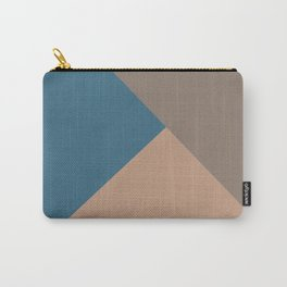 Brown Blue Minimal Solid Color Abstract Shapes 2021 Color of the Year Canyon Dusk & Accent Shades Carry-All Pouch