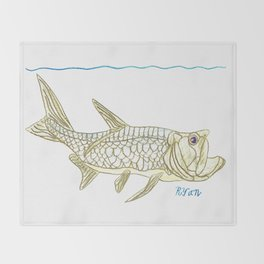 Key West Tarpon II Throw Blanket