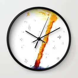 Rope Twixt Earth and Heaven Wall Clock