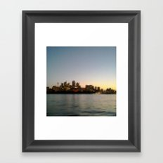 Sydney City Pixels No.1 Framed Art Print