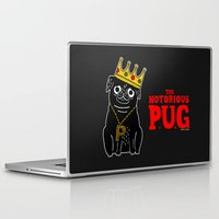 gemma correll Laptop & iPad Skins featuring The Notorious P.U.G. by gemma correll