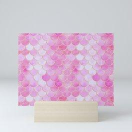 Pink Pearlescent Mermaid Scales Pattern Mini Art Print