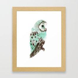 Watercolour Owl Framed Art Print