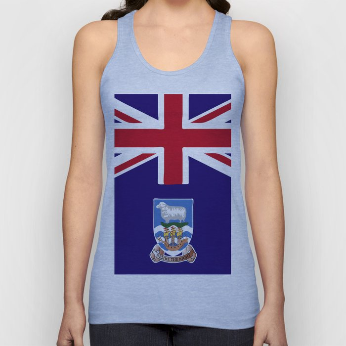 Falkland Islands flag emblem Unisex Tank Top