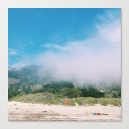 and the fog creeps in Canvas Print