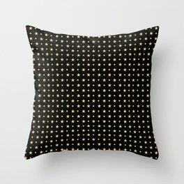 Twinkling Sparkling Golden Stars Throw Pillow