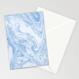 Ryoko - spilled ink abstract painting marble marbled paper art minimal swirl modern water ocean wave Stationery Cards