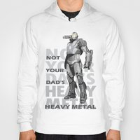 heavy metal Hoodies featuring Heavy Metal by Laura Stephens