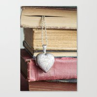 college Canvas Prints featuring College Romance by Colleen Farrell