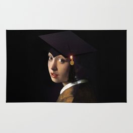 Girl with the Grad Cap Rug