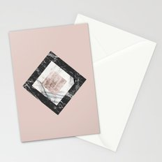 Pink Marble Stationery Cards
