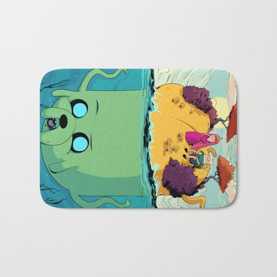 Adventure time marooned Bath Mat