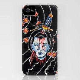 Severed Geisha head iPhone Case