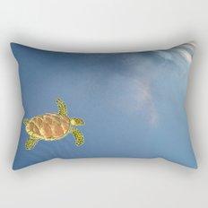 hawksbill swimming in the sky Rectangular Pillow