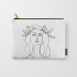 Picasso lady  Modern Sketch Picasso Art Modern Minimalist Carry-All Pouch