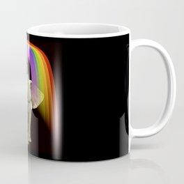 Cute Elephant Blowing Rainbows Modern Animal Art Coffee Mug