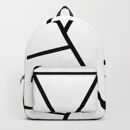 Black and White Fragments - Geometric Design I Backpack