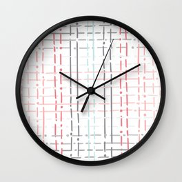 pastel doodle linear Wall Clock