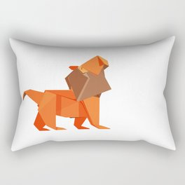 Origami Lion Rectangular Pillow