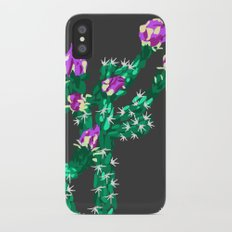 Flowering Cactus iPhone X Slim Case