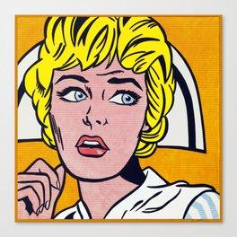 Lichtenstein - Nurse Canvas Print