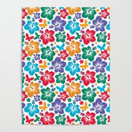 Hibiscus Pattern Poster
