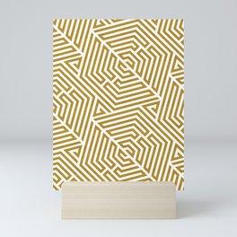 Gold labyrinth Mini Art Print