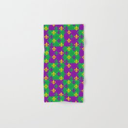 Mardi Gras Fleur-de-Lis Pattern Hand & Bath Towel